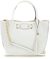 Kate Landry Harper Tasseled Metallic Satchel