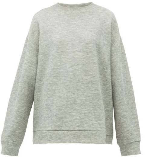 Raey Crew Neck Cashmere Blend Sweatshirt - Womens - Grey
