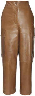 Givenchy Crop Patent Leather Wide Leg Pants