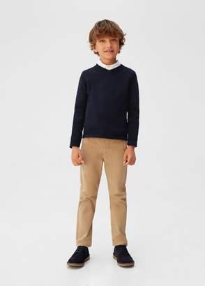 MANGO Essential cotton-blend sweater dark navy - 5 - Kids