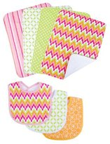 Trend Lab Savannah 3 Pack Bib and 4 Pack Burp Cloth Set