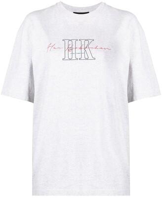 Han Kjobenhavn logo-print organic-cotton T-shirt