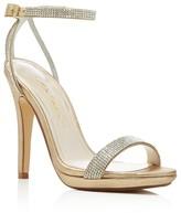 Caparros Destiny Metallic Rhinestone Embellished High Heel Sandals