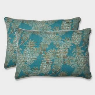 Modern Outdoor Pillow Perfect 2pk Oversize Carate Batik Lagoon Rectangular Throw Pillows Blue