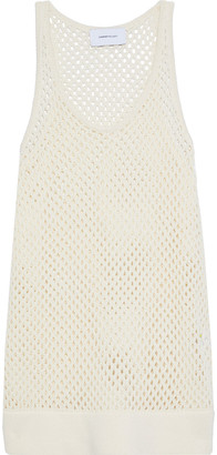 Current/Elliott The Blitzed Open-knit Cotton-blend Tank
