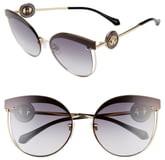 Roberto Cavalli 63mm Oversize Flat Front Cat Eye Sunglasses