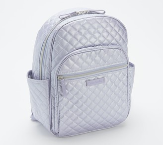 Vera Bradley Iconic Metallic Small Quilted Backpack