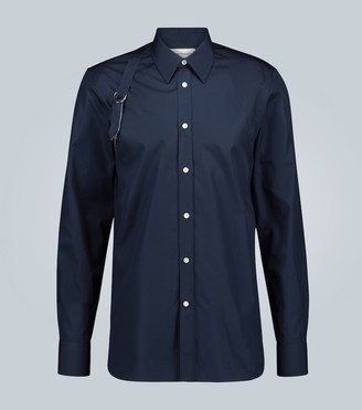 Alexander McQueen Pinstriped Harness cotton shirt