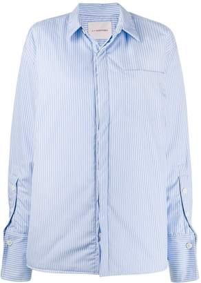 A.F.Vandevorst striped oversized shirt