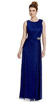 Alex Evenings Beaded Cut-Out Empire Waist Gown