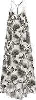 Mikoh Hamptons printed silk-crepe maxi dress
