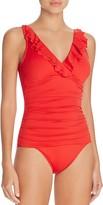 Lauren Ralph Lauren Beach Ruffled One Piece Swimsuit
