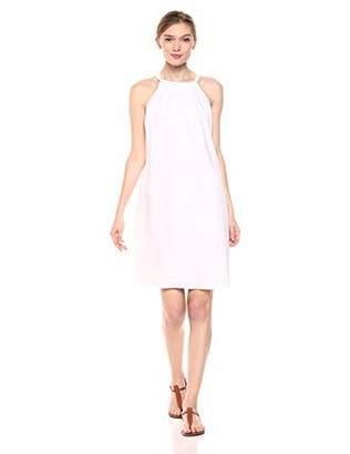 28 Palms 100% Linen Halter Shift Dress Casual,US M (EU M - L)