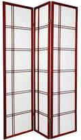Oriental Furniture Asian Decor 6-Feet Double Sided Shoji Privacy Screen Room Divider