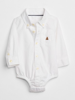 Gap Baby Oxford Button-Up Bodysuit