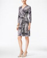 Charter Club Petite Printed Faux-Wrap Dress, Only at Macy's