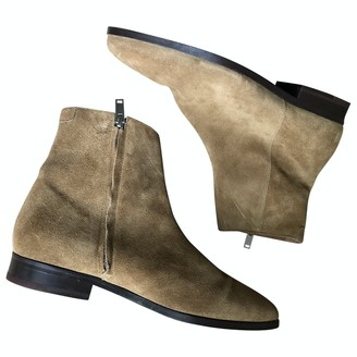 Sandro Camel Suede Boots