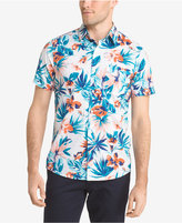 Izod Men's Printed Floral Cotton Shirt