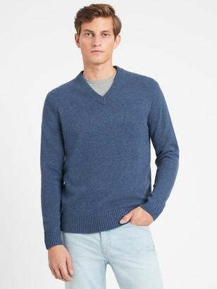 Banana Republic Italian Merino V-Neck Sweater
