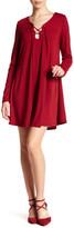 Glamorous Lace Up Long Sleeve Tunic