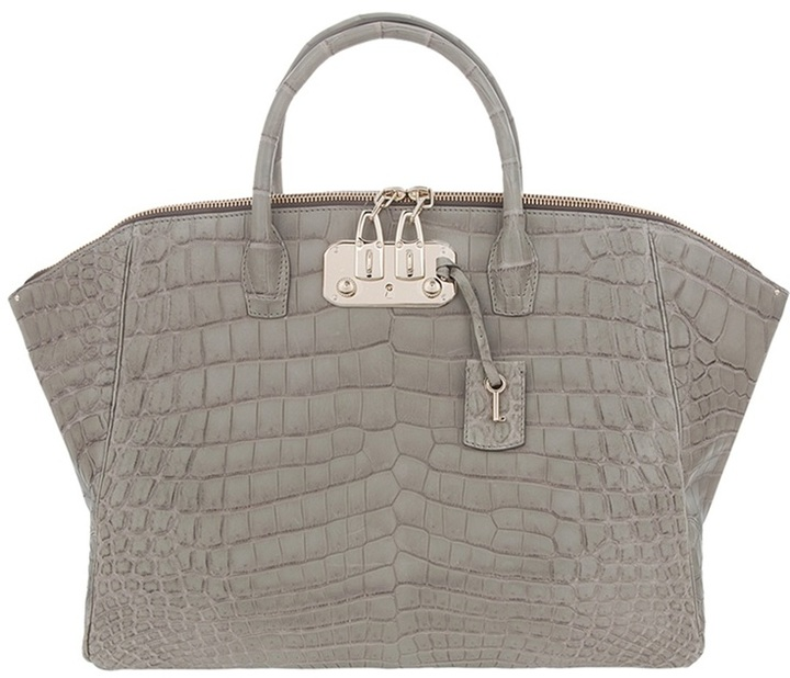 VBH Crocodile leather tote