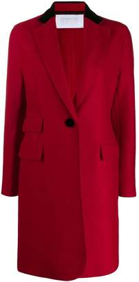 Harris Wharf London single breasted midi coat