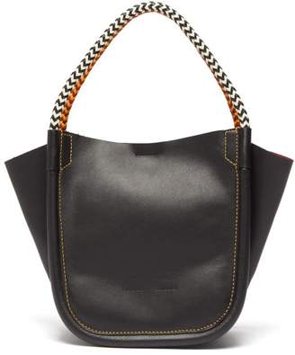 Proenza Schouler Xs Rope-handle Leather Tote - Womens - Black