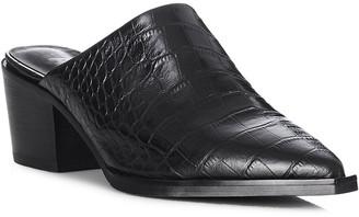 Mae Rilie Crocodile Leather Mule