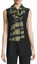 Caroline Rose Exotic Elements Georgette Scarf, Moss/Black