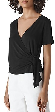 Whistles Side-Tie Wrap Top