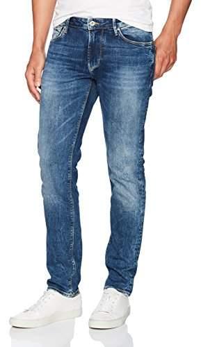 Armani Jeans Men's Brushed Vintage Medium Dark Wash Denim