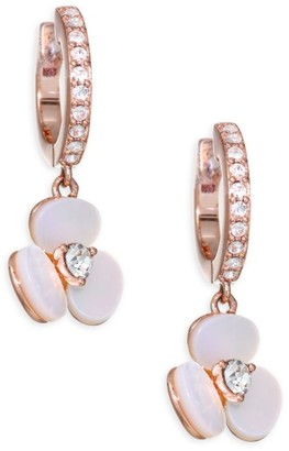 Kate Spade Mother-Of-Pearl & 14K Yellow Golplated Floral Earrings