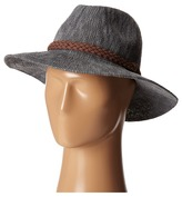 San Diego Hat Company KNH8008 Machine Knit Fedora w/ Braided Suede Trim