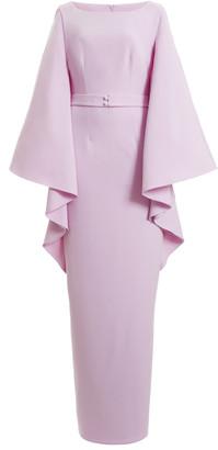 Safiyaa Exclusive Draped Crepe Maxi Dress
