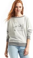 Gap Relaxed cursive logo pullover sweatshirt