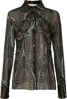 Sophie Theallet printed sheer shirt - women - Silk - 10