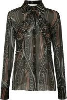 Sophie Theallet printed sheer shirt - women - Silk - 10