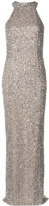 Rachel Gilbert Lucia sequin-embellished tulle gown