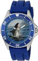 EWatchFactory Men's 'Shark Week' Quartz Stainless Steel and Rubber Sport Watch, Color: (Model: WDC000086)