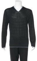 Armani Collezioni Silk V-Neck Sweater