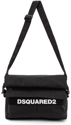 DSQUARED2 Black Military Messenger Bag