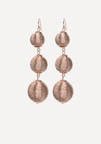 Bebe Metallic Thread Earrings