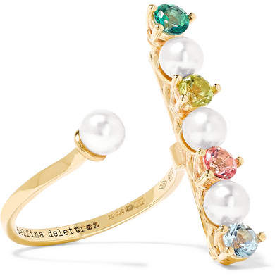 Delfina Delettrez 9-karat Gold Multi-stone Ring