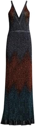 M Missoni Glitter Ombre Lurex Knit Maxi Dress