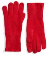 Halogen Rib Knit Cashmere Gloves
