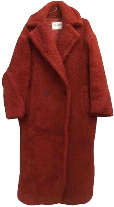 Max Mara Teddy Bear Icon Red Wool Coats