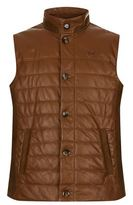 La Martina Quilted Nappa Leather Gilet