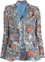 Ermanno Scervino rose jacquard blazer