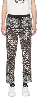 Dolce & Gabbana Black and Red Bandana Print Trousers