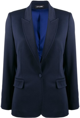 Styland Fitted Fine Knit Blazer
